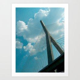 Leonard P Zakim Bridge Art Print