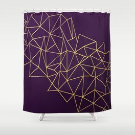 Ultra Purple Geo Shower Curtain