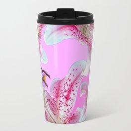 PURPLE & PINK ASIAN LILIES ART Travel Mug