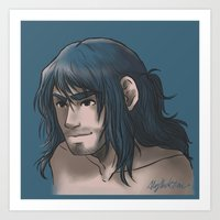 kili Art Prints featuring Kili ColorPalette by AlyTheKitten