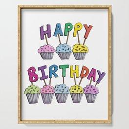 Happy Birthday Cupcakes Serving Tray