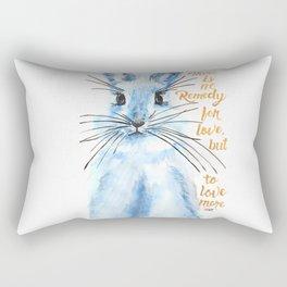 Blue Bunny Rectangular Pillow