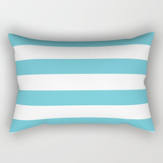 Simply Stripes in Seaside Blue Rectangular Pillow