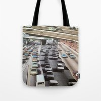 cars Tote Bags featuring cars by danielrcart