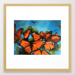 Aflutter Framed Art Print
