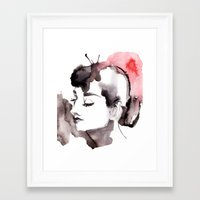 audrey Framed Art Prints featuring Audrey by Michelle Pegrume