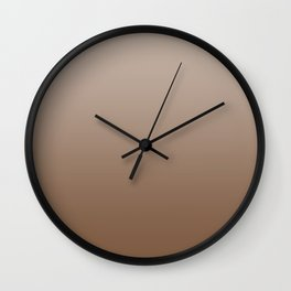 Pastel Brown to Brown Horizontal Linear Gradient Wall Clock