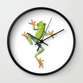 Greenery tree-frog Wall Clock