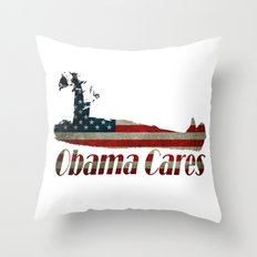 Obama Cares Throw Pillow