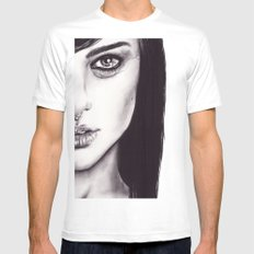 Under Your Bed (Natalie Portman)  White Mens Fitted Tee MEDIUM