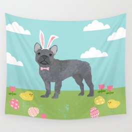 French Bulldog easter spring dog breed gifts pure breed frenchies grey coat Wall Tapestry