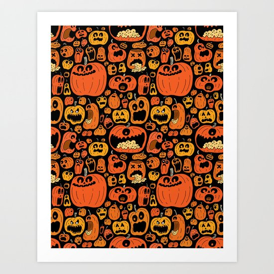 Pumpkin Pattern Art Print