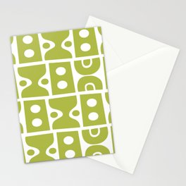 Mid Century Modern Abstract Composition 616 Olive Green Stationery Cards