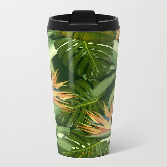 Circle in the Leaves Metal Travel Mug