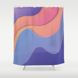 Wave&Shapes 6 Shower Curtain