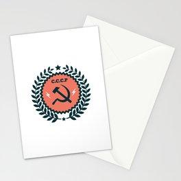 Hammer Sickle Communist Badge Stationery Cards