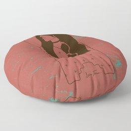 Moon Maiden in Adobe Floor Pillow