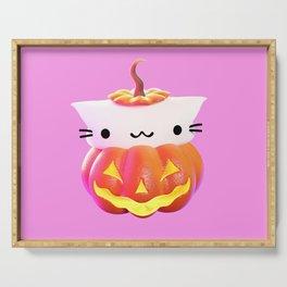 Pumpkin Cat Serving Tray
