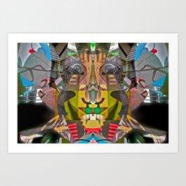 Abstract Brother of Mr. Potato Head Art Print