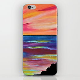 GIANT'S CAUSEWAY SILHOUETTE - Abstract Sky Oil Painting iPhone Skin