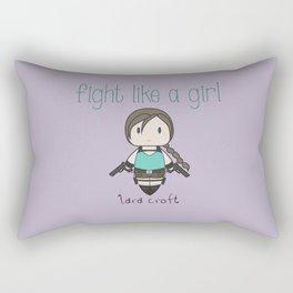 Fight Like a Girl - Lara Croft ~ Tomb Raider Rectangular Pillow