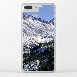 Longs Peak From Dream Lake Clear iPhone Case