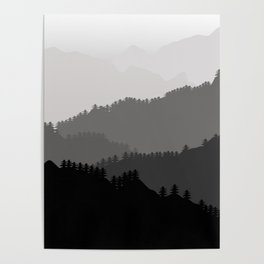 Misty Moutains Poster