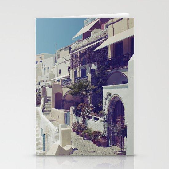 Streets of Santorini I  Stationery Cards