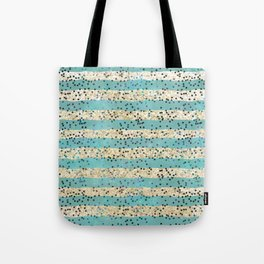Teal and Gold Glitter with Polka Dots Tote Bag