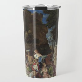 Giovanni Bellini and Titian The Feast of the Gods 1514 1529 Painting Travel Mug
