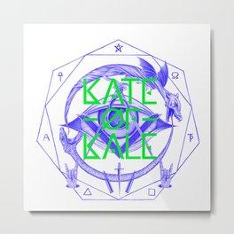 Kate of Kale's All Seeing Ch**bEye. Metal Print
