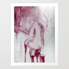 The Bather (study) Art Print