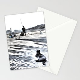 The Waiting Game Art Stationery Cards