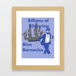 Blue Barnacles Framed Art Print