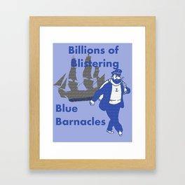 Blue Barnacles Framed Art Print