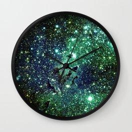 Green Eagle Nebula / Pillars of Creation Wall Clock