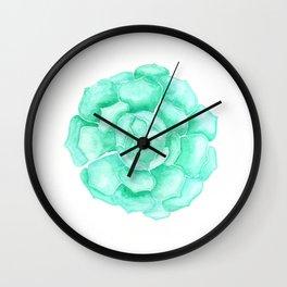 Jovibarba Heuff Bermuda - Green Succulent Wall Clock