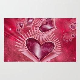 Girly Pink Hearts Rug