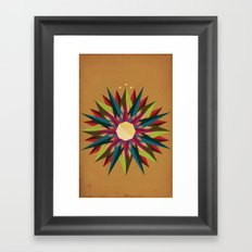 Half Circle Stars Framed Art Print