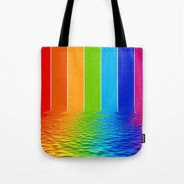 spectrum water reflection Tote Bag