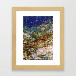 peninsula blue, monterey Framed Art Print