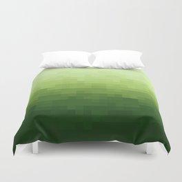Gradient Pixel Green Duvet Cover