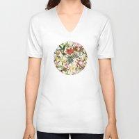 botanical V-neck T-shirts featuring Botanical by Bambouchic