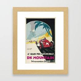 DK Mountain Grand Prix Framed Art Print