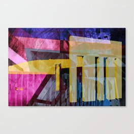 Keflavik - during a visit from the Yeti Canvas Print