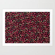 Strawberries & Blackberries Art Print
