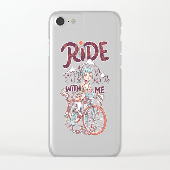 Ride With Me Clear iPhone Case