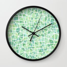 Pastel Triangles 1 Wall Clock