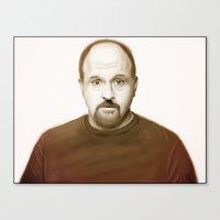 louis ck Canvas Prints featuring Louis Ck by Alexia Rose