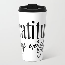 Graditude Quote,Today I am Thankful for,PRINTALE ART,Today I am Grateful for,Inspirational Poster Travel Mug